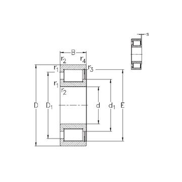 NCF2980-V NKE Cylindrical Roller Bearings