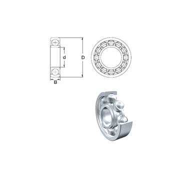 R16 ZEN Deep Groove Ball Bearings